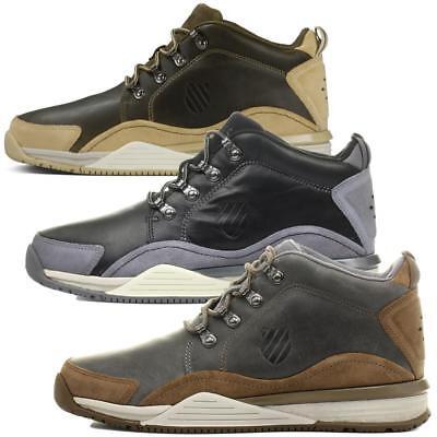 Inventivo K-swiss Eaton P Cmf Stivali Uomo In Pelle Scarpe Stivali Sneaker Outdoor-mostra Il Titolo Originale