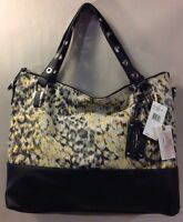 Jessica Simpson Sutton Neon Leopard Black Shoulder Bag Crossbody Tote Purse