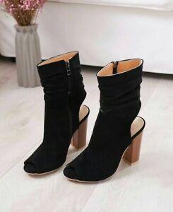 stivali donna nero scamosciato