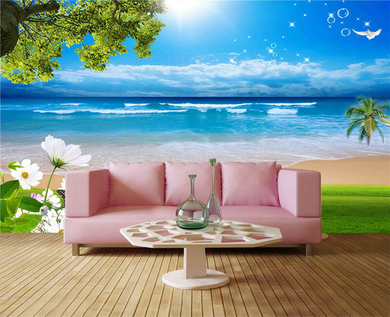 Sunny Orient Beach 3D Full Wall Mural Photo Wallpaper Printing Home Kids Decor
