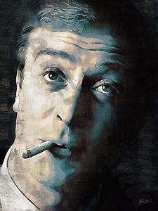 SIR MICHAEL CAINE ART PRINT POSTER OIL PAINTING LFF0124