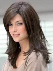 NEWJF1170 new long fashion dark brown health straight Hair wig wigs for women
