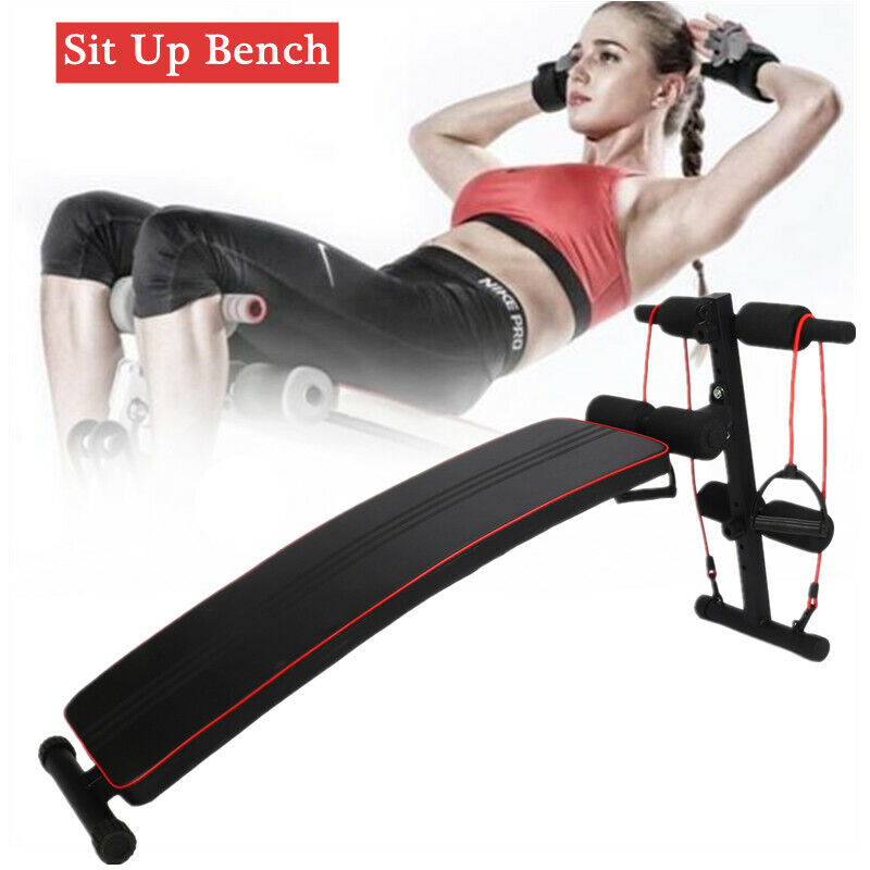 Adjustable Sit Up AB Abdominal Bench Flat Crunch Board Stomach Core Fitness