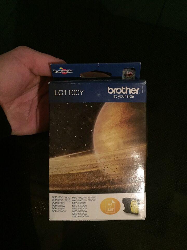 2 stk Blækpatroner fra Brother LC1100Y - Gul