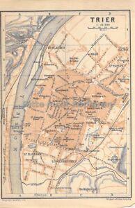 Trier Um 1900 Historische Alte Landkarte Stadtplan Map Ebay