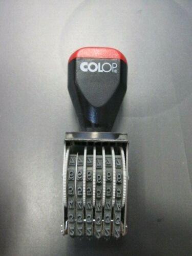Colop 03006 Stempel 3mm 6 Band Gummi Nummerierungsstempel unbenutzt