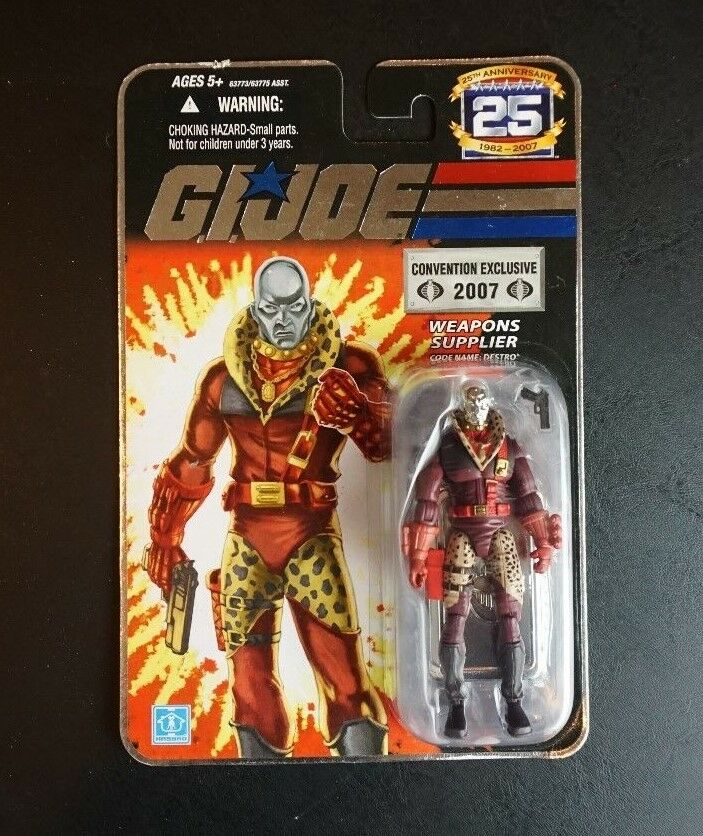 Pimp Daddy Destro 2007 G.I. Joe COBRA 25th Anniversary SDCC Convention Exclusive
