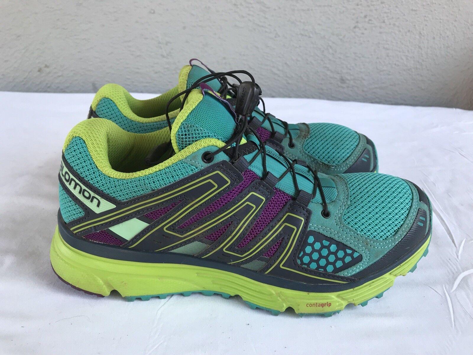 EUC  Salomon Women's Size US 7 X-Mission 3 Contra-Grip Trail Running shoes B