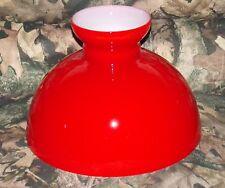 Vintage Lamp Shade Red Cased Glass Student Kerosene Oil Aladdin Desk Table