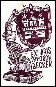 Huffert Hermann X2 Exlibris Bookplate Architecture Heraldry 1169 -  Dabrowa, Polska - Huffert Hermann X2 Exlibris Bookplate Architecture Heraldry 1169 -  Dabrowa, Polska