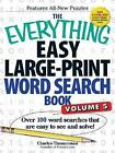 The Everything Easy Large-Print Word Search Book: Over 100 Word Searches That are Easy to See and Solve!: Volume 5 by Charles Timmerman (Paperback, 2015)