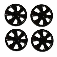 Universal Wheel Cover ABS Wheel Skins Set Hub Caps Ice Black 16'' -Set of 4