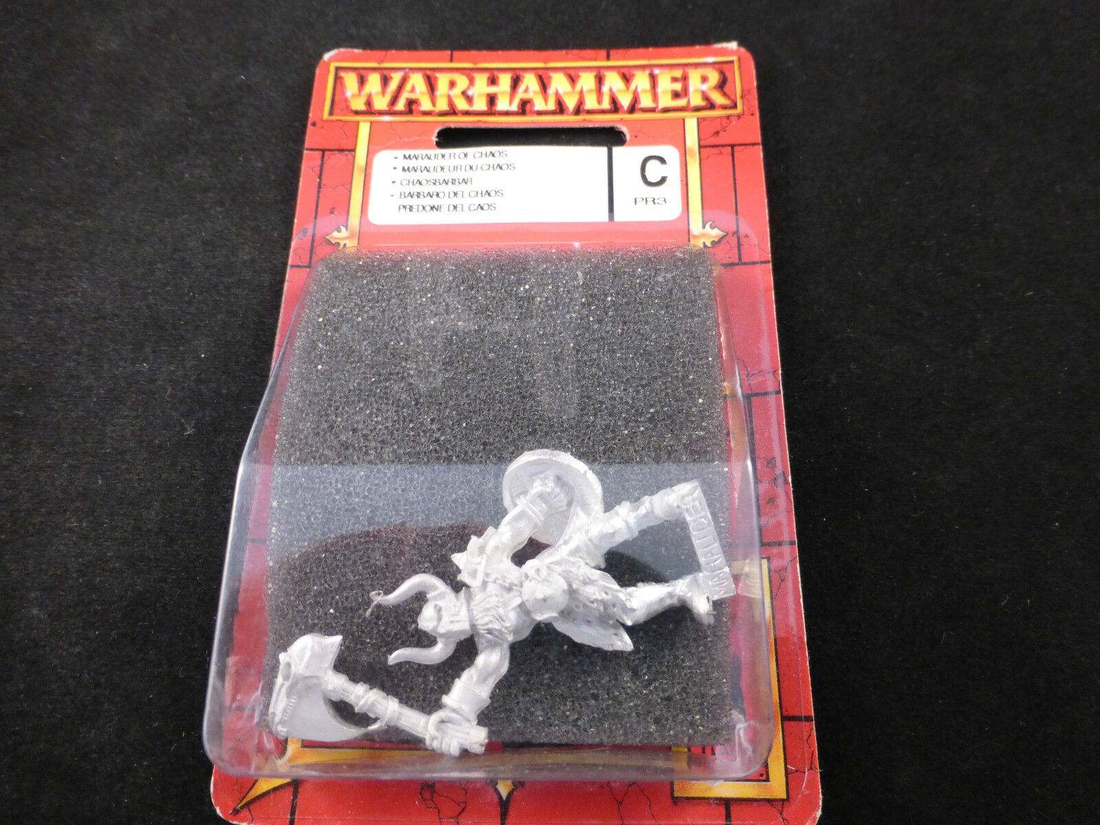 Limited Release PR03 Promo 2002 Warhammer Chaos Marauder Champion Metal Blister
