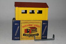 MATCHBOX LESNEY ACCESSORY PACK #A-3 GARAGE, CLIP INCLUDED, EXCELLENT, BOXED