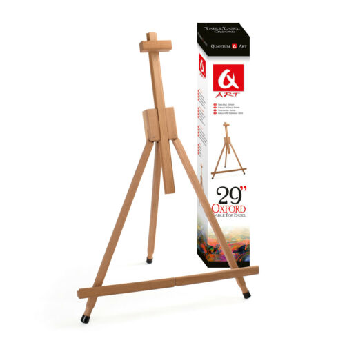 BEECH WOOD 430-750mm WEDDING ARTIST TABLE FOLDING TOP DISPLAY WOODEN EASEL CRAFT