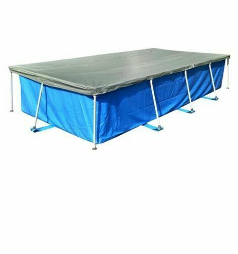 Quick Up Swimming Pool Rectangular Frame 4.5m x 2.2m x 0.84m with Cover