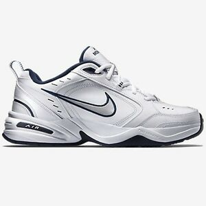 Nike Shoes  Nike Air Monarch IV Mens Sports Shoes WhiteSilverNavy