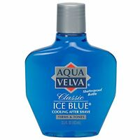 4 Pack - Aqua Velva Classic Ice Blue Cooling After Shave 3.50 Oz Each on sale