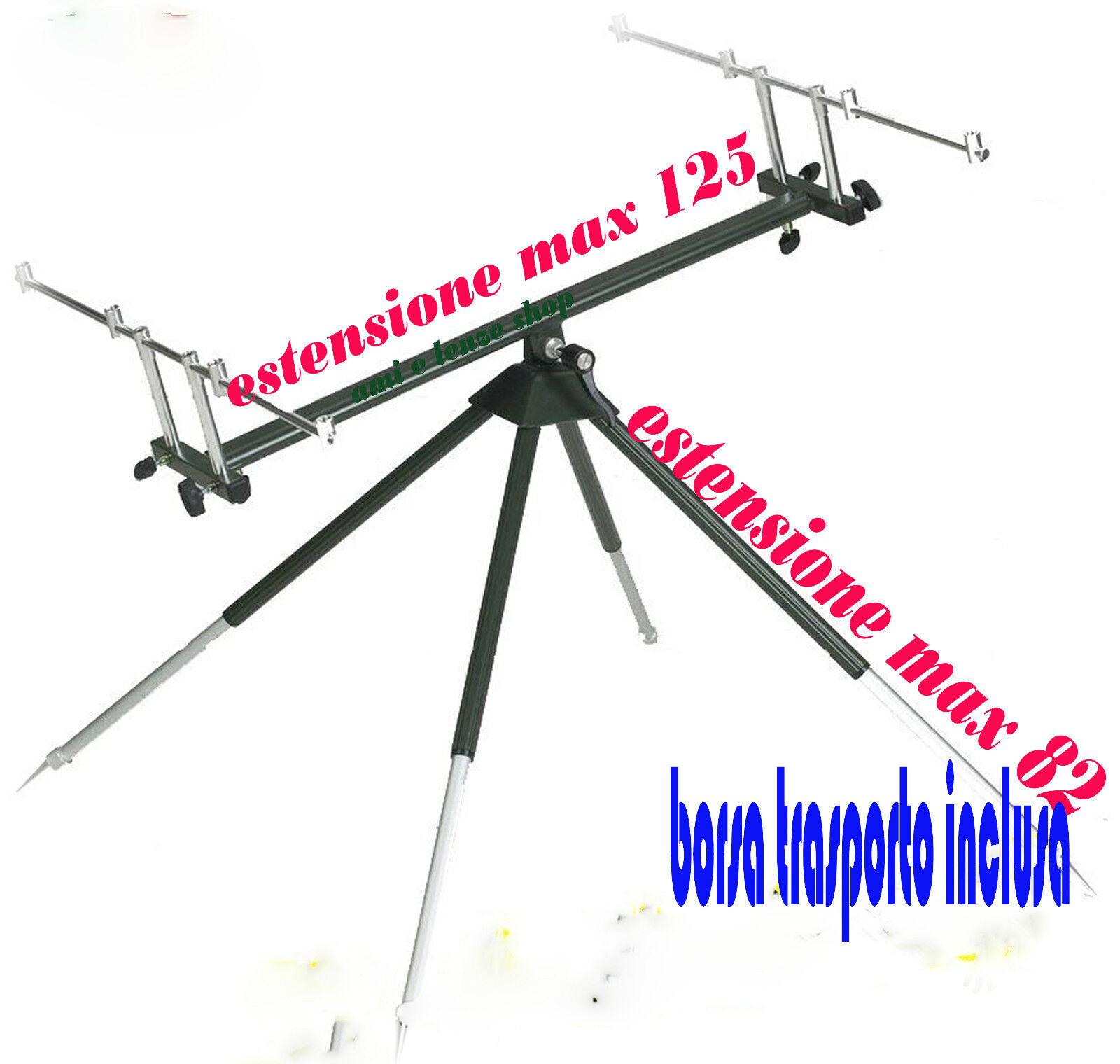Rod pod carpfishing basculante per 4 canne pesca carp fishing rod pod aluminio