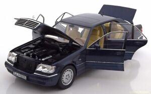 Mercedes-Benz-S500-CLASSE-S-W140-Metallique-Bleu-1994-1-18-Norev-Dealer