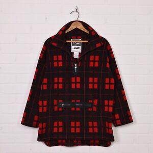 size Large 90s Plaid Fleece Shirt Vintage Men Shirt Thick Jacket GBlue 90s Grunge Shirt Boyfriend Gift Overshirt