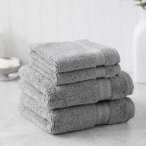 Charisma-Soft-Hygro-Cotton-Four-piece-Bath-Towel-Set-Color-Gray