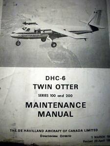 de havilland canada dhc 6 twin otter service manual series 100 200 rh ebay co uk De Havilland DHC-6 Twin Otter RC DHC-6 Twin Otter