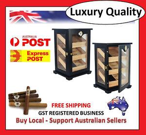 Hand-Made-150-Count-Cigar-Humidor-Box-Cabinet-Mahogany-Humidifier-Hygrometer-1