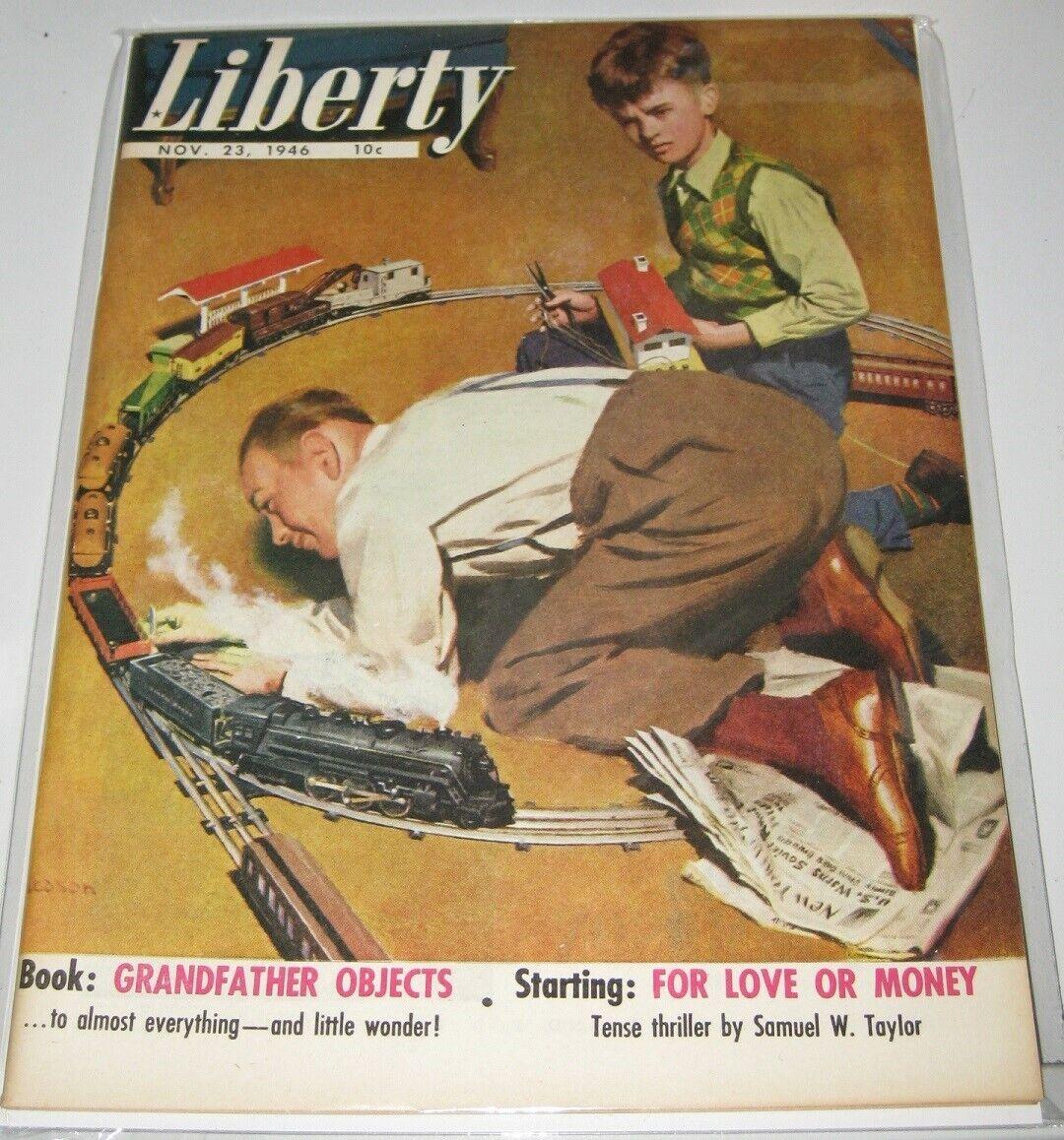 1946 RIVISTA LIBERTY CON LIONEL TRENO catalogo Nuovo di zecca COND.