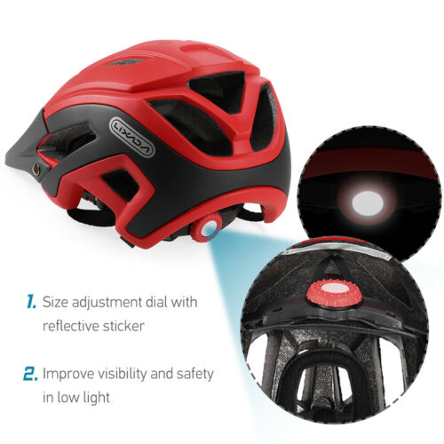 Cycling Helmet Protective Mens Safety Adult Mountain Bike Bicycle Helmet UK M2H9