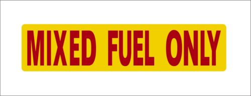 Mixed Fuel Only Vinyl Hard hat Lunch box Tool box Stickers Decal Car Bumper Dec