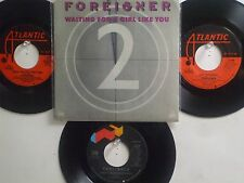 LOT OF 4 ' FOREIGNER ' HIT 45's+1PS[Waiting  For A Girl Like You] THE 70's&80's!