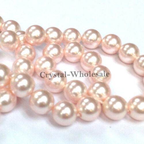 Swarovski 5810 Crystal Round Pearls Beads Jewelry Making *U Pick Color /& Size