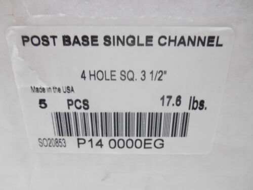 "3-1//2/"" POST BASE SINGLE CHANNEL EG 5 PHOENIX P14 0000EG 4 HOLE SQ"