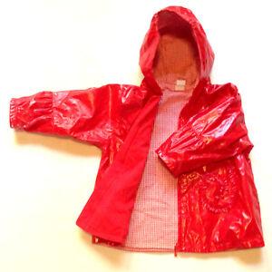 Baumwolle Jacke Details Mädchen Übergangsjacke Innen Rot Kanz Gr92 Zu Frühling Herbst QtrhCsd