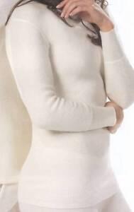 fd7f727e256fcd Details zu Angora Damen Unterwäsche Unterhemden Langarm verschiedene Größen