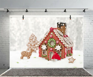 Christmas Gingerbread House Background.Details About Christmas Gingerbread House Prop Studio Backdrop 10x6 5ft Photography Background
