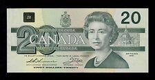 CANADA  20  DOLLARS  1991  EIA   PICK # 97a  AU-UNC  BANKNOTE.