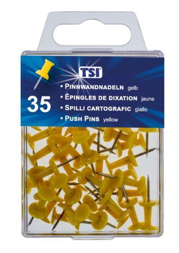 gelb Farbe 35 Pinnwandnadeln