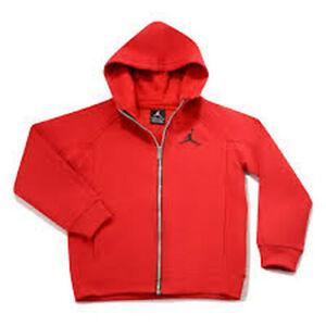 0b914df18a9256 NWT Nike Small Boys Kids Jordan Fleece Full Zip Hoodie Size 2T 3T 4T ...
