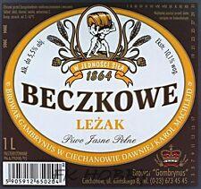 Poland Brewery Ciechanów Beczkowe Leżak Beer Label Bieretikett Cerveza ci73.1