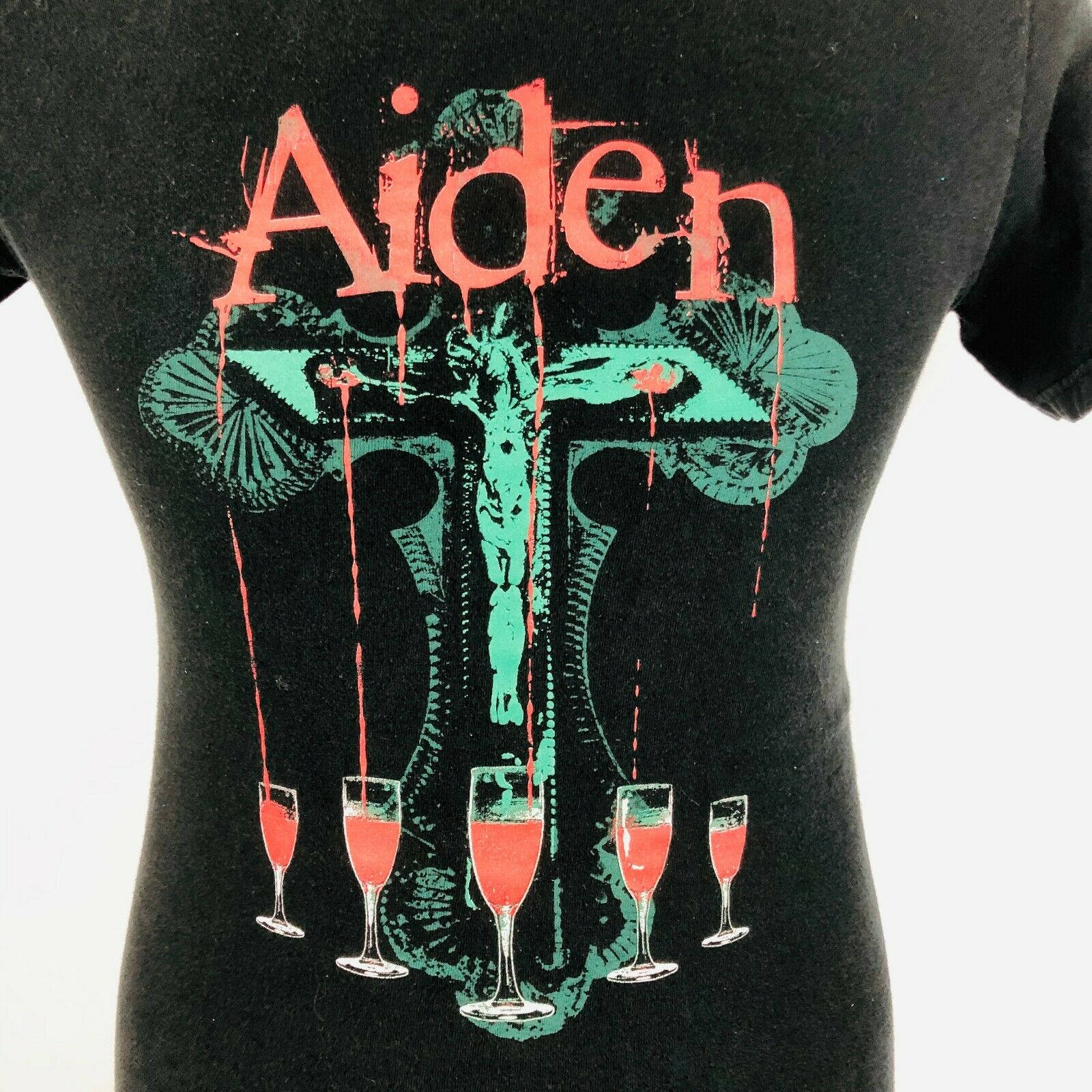 AIDEN Punk Hard Rock Mens S Graphic T Shirt