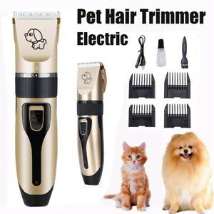 Para-Animal-Mascota-Perro-Gato-Pelo-Trimmer-Shaver-electrica-de-afeitar-Grooming-Clipper-Silencioso