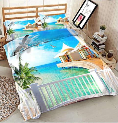 Charming Maldives 3D Printing Duvet Quilt Doona Covers Pillow Case Bedding Sets