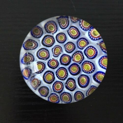 Paperweight Briefbeschwerer,Glas Kugel  Millefiori Muster  6cm