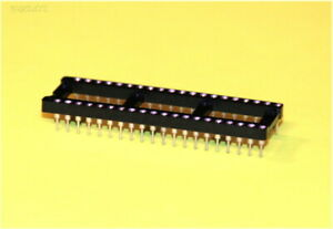 12-pc-DIP-40-Machined-pin-IC-socket-Hi-Reliability-Easy-insertion-removal