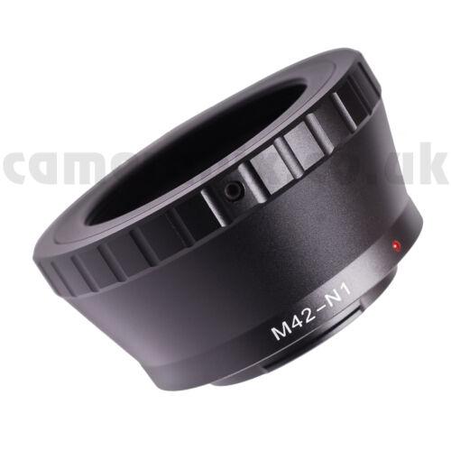 Se adapta a M42 Rosca 42mm Lente Nikon - 1 AW1 S1 J2 V2 Convertidor Adaptador de montaje