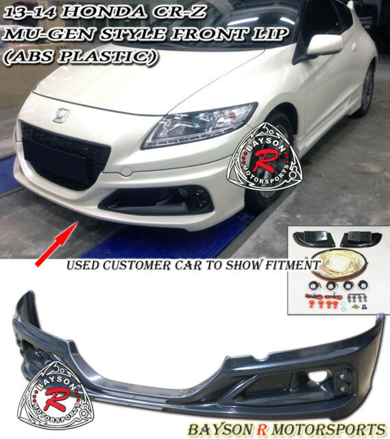 Mu-gen RZ Style Front Lip + Fog Covers (ABS) + LED Fits 13-15 CR-Z 2dr