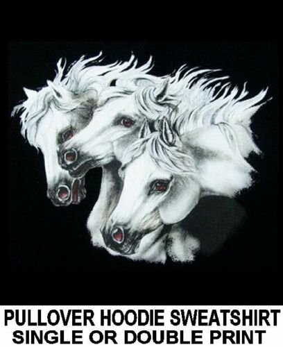 Beautiful Stallion Hoodie 309 Show Horse Art Arabian White Gray Arab Sweatshirt wIpqvSIr8