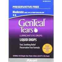 Genteal Lubricant Eye Drops Sterile Single-use Vials 36 Ea (pack Of 8) on sale